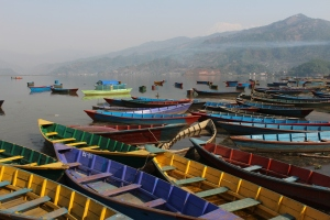 Beautiful Pokhara. An early morning picture on the lake. One of my favorites!